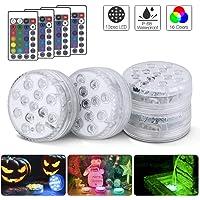 Actualizado 13 LED Luces Sumergibles 4PCS Piscina Luz
