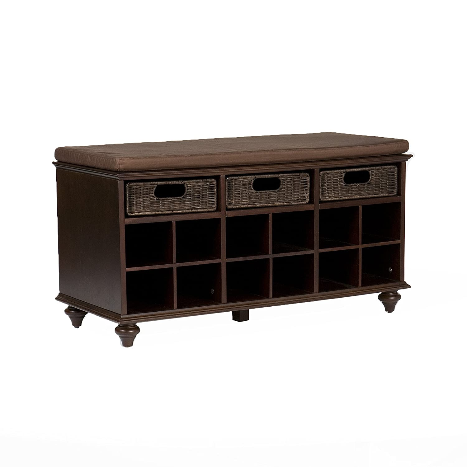 Ordinaire Amazon.com: Southern Enterprises Chelmsford Entryway Shoe Storage Bench,  Espresso Finish: Kitchen U0026 Dining