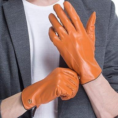 9ef9fa7fb8960 CHULRITA Men s Genuine Italian Nappa Leather Gloves Winter Warm Daily Dress  Driving Gloves