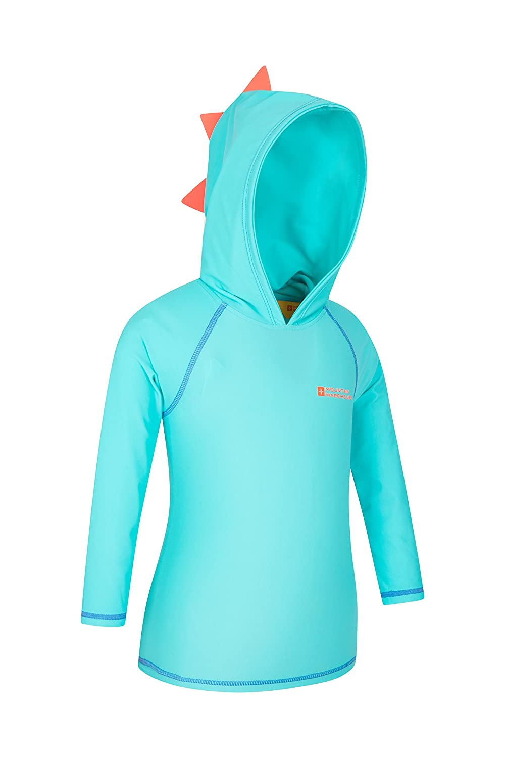 Mountain Warehouse Kids Rash Vest Hoodie - Childrens Summer Jacket Turquoise 6-12 months