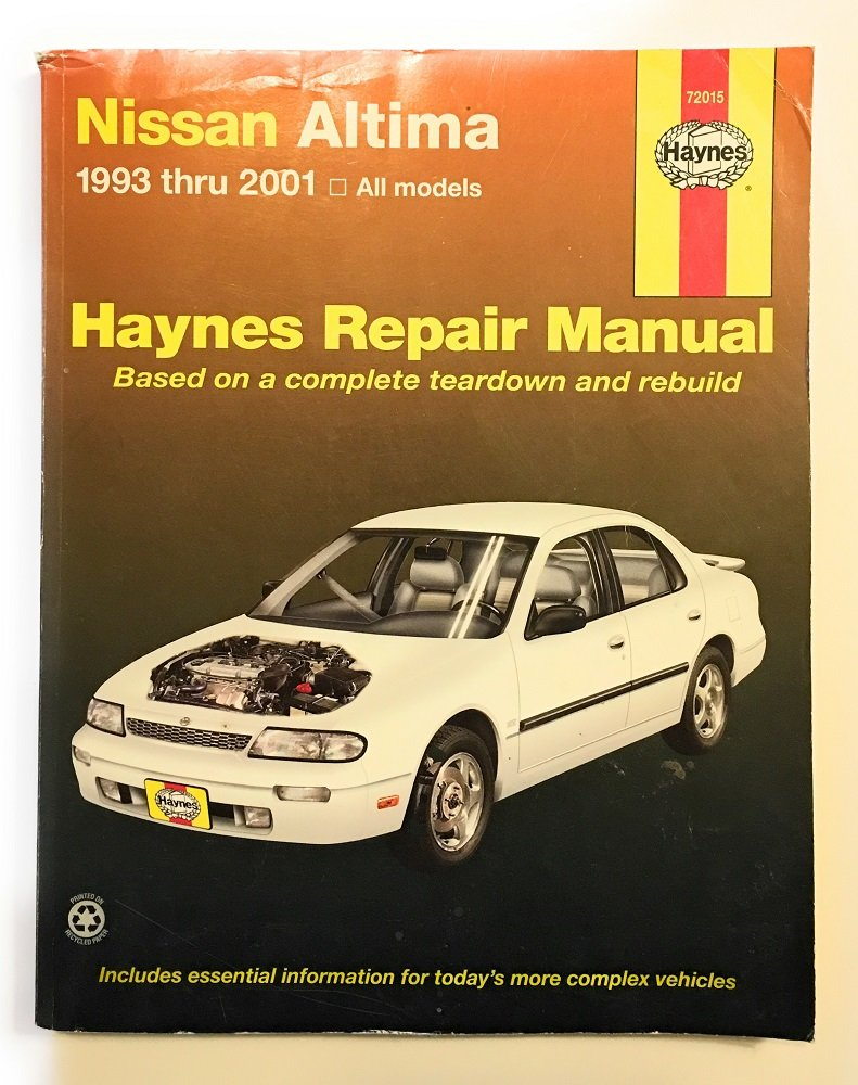 Haynes Repair Manual Nissan Altima 1993 Thru 2001 All Models: Editor:  Amazon.com: Books