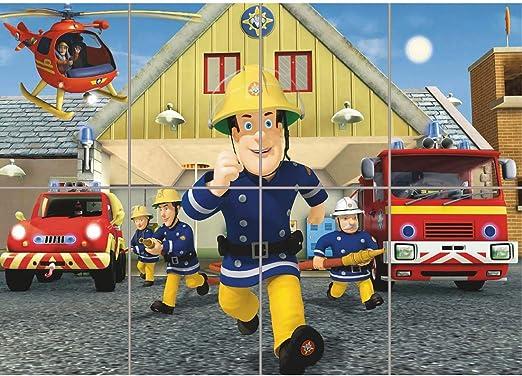 Amazon.com: Fireman Sam Nuevo Muro de gigante Arte Imprimir ...