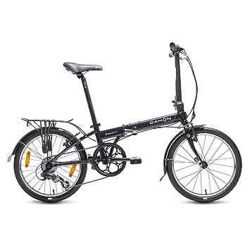 "Dahon Speed D7 Bicicleta Plegable, Unisex Adulto, Negro Obsidian, 20"""