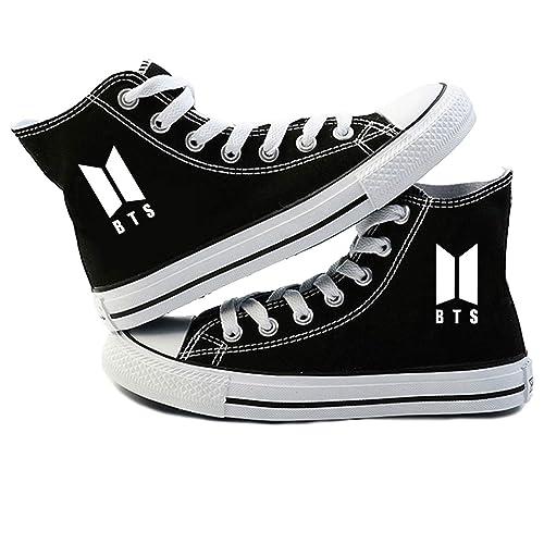 Shoe Canvas Teenager Bangtanboys Schuhe Suga Fans Espadrilles Freizeitschuhe Turnschuhe Bts 3qScRAL4j5