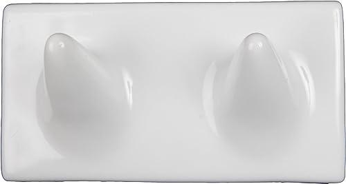 Ceramic Double Wash Cloth Hook Tile Niche Shelf
