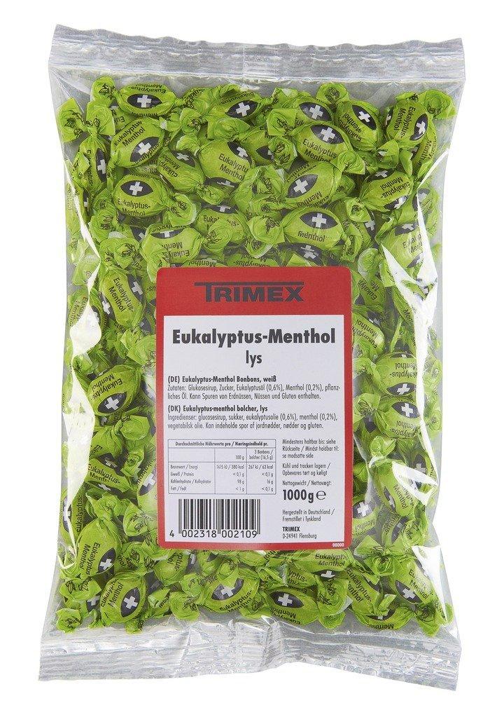 Trimex Menthol Eucalyptus Candy, 1000 Grams/35.3 Ounces by TRIMEX