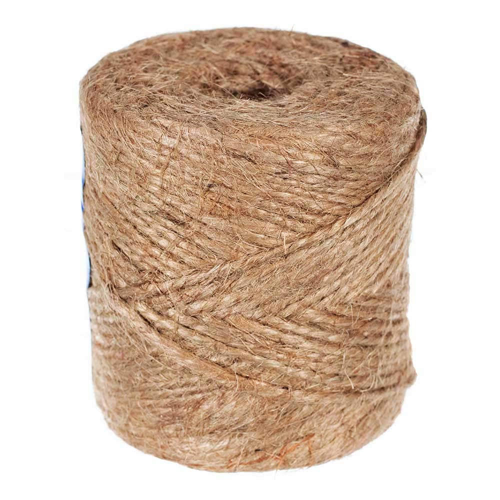 Gardening Rope GOLBERG G Natural Jute Twine Durable Packing String 2 Ply x 1.5 MM x 450 Feet