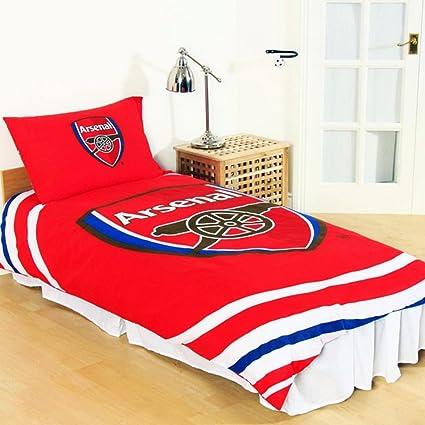 Manchester United Pulse Reversible Single Duvet Quilt Cover Set Bed Linen Duvets