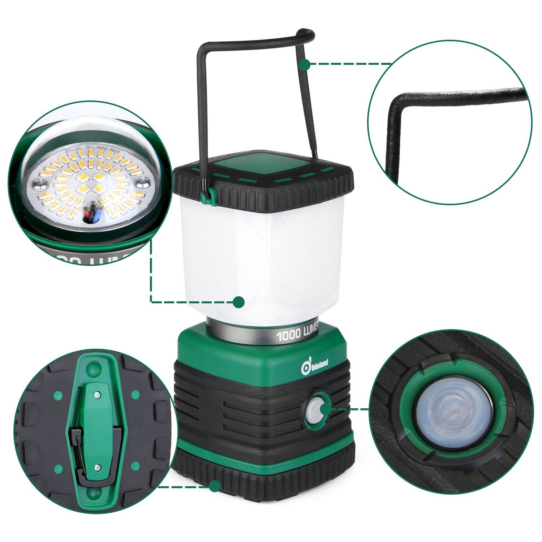 Odoland Ultra Bright 1000 Lumen Camping Lantern with Brightness Adjustment, Battery Powered LED Lantern of 4 Light Modes, Best for Camping, Hiking, Fishing & Emergency by Odoland (Image #10)