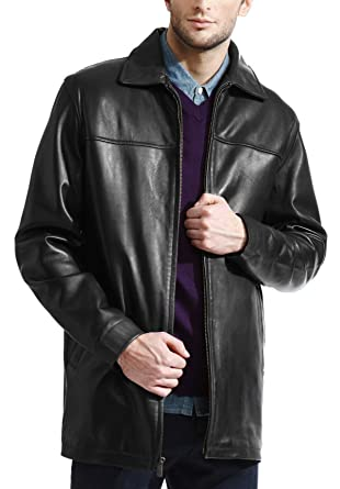 807b14bf786b Tanners Avenue Men s Basic Black 3 4 Leather Jacket - Soft Genuine ...