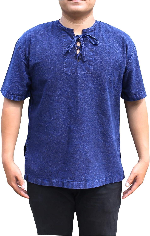 Svenine Brand Open Collar Renaissance Shirt Short Sleeve