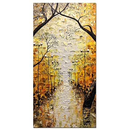 Amazon.com: Asdam Art-Large Abstract Artwork Romatic Night Street ...