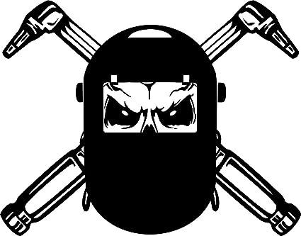 Casco de soldadura máscara pared pegatinas dibujos animados calavera soldador pegatinas decoración del hogar decoración del
