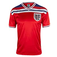 England Official Football Gift Mens 1982 World Cup Finals Home & Away Kit Shirt