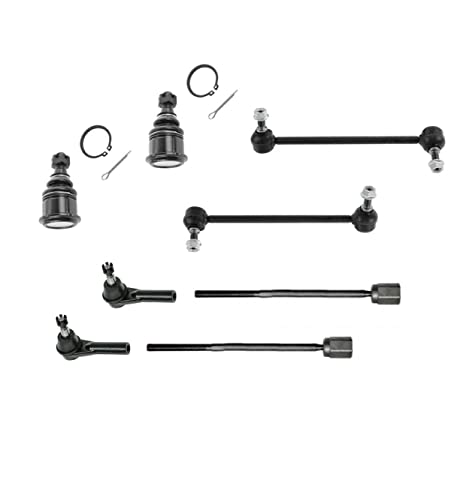 amazon com: partsw 8 pc front steering & suspension kit for ford taurus  mercury sable inner & outer tie rod ends lower ball joints and sway bar end  links: