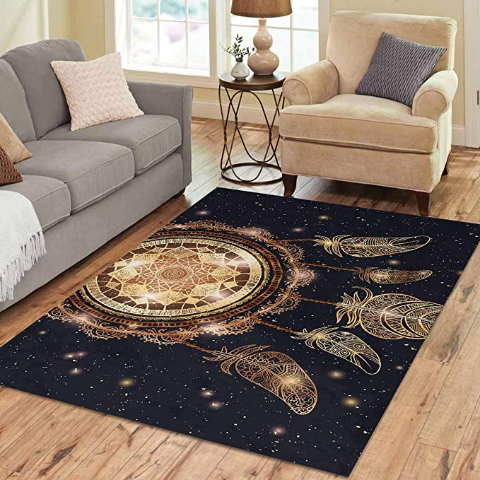 Amazon Com Interestprint Sweet Home Stores Collection Custom Native American Indian Dreamcatcher Area Rug 7 X5 Indoor Soft Carpet Home Kitchen
