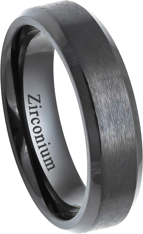 This is an image of Jewelry Avalanche 44mm Dark Gray Gunmetal Beveled Zirconium Wedding