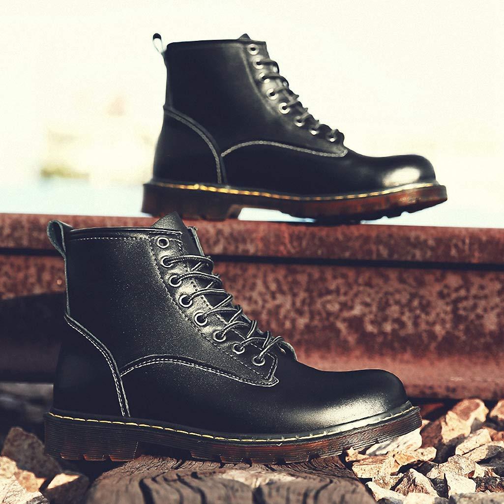 Giles Jones Combat Boots for Men Autumn Winter Anti-Skid Comfort Durable Motorcycle Boots