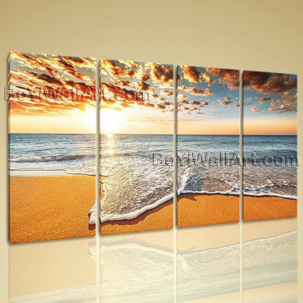 Amazon.com: Extra Large Giclee Prints Seascape Wall Art On Canvas ...