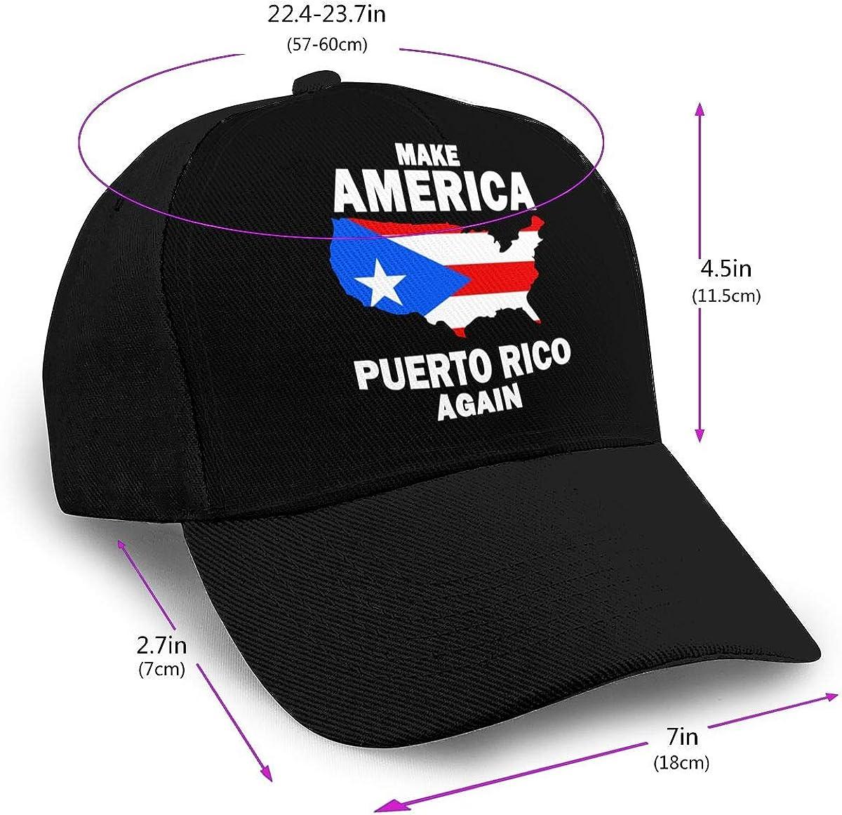 Make America Puerto Rico Again Trucker Hat for Unisex Cotton Snapback Cap