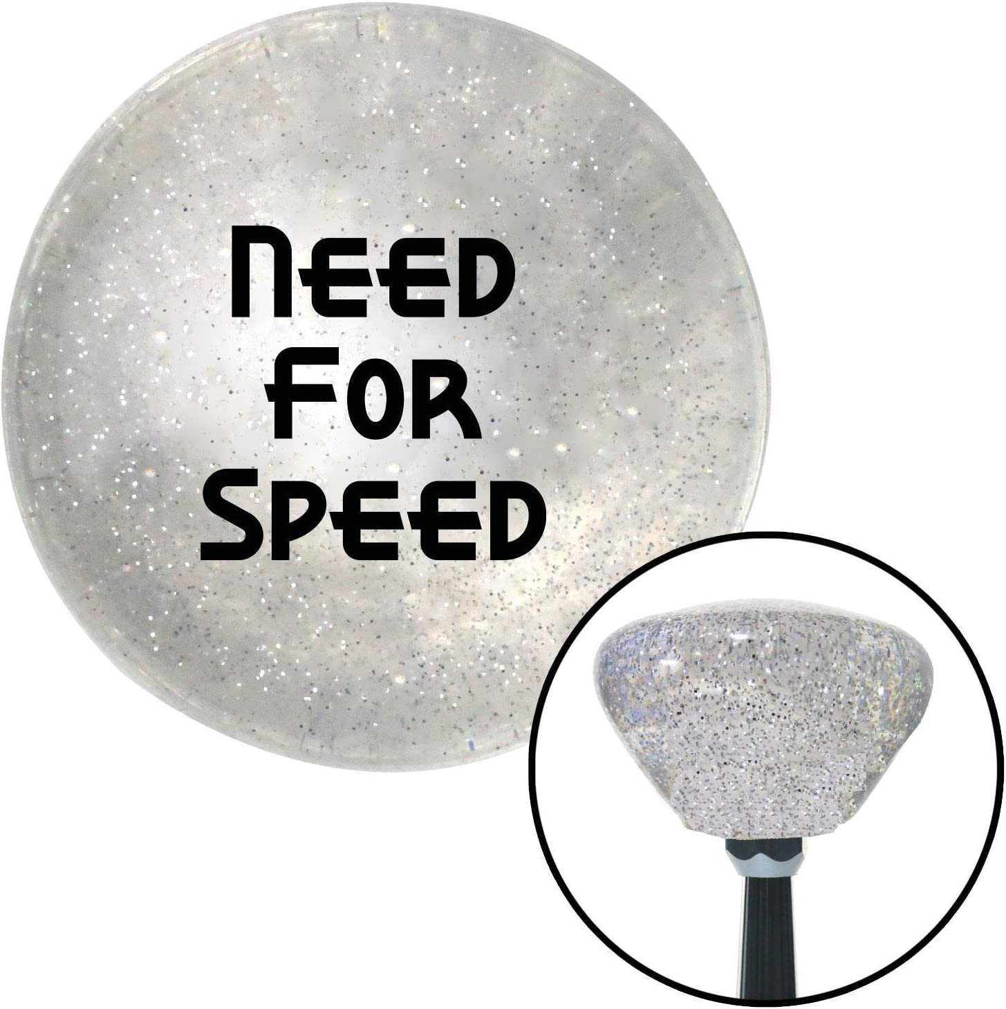 American Shifter 163977 Clear Retro Metal Flake Shift Knob with M16 x 1.5 Insert Black Need for Speed