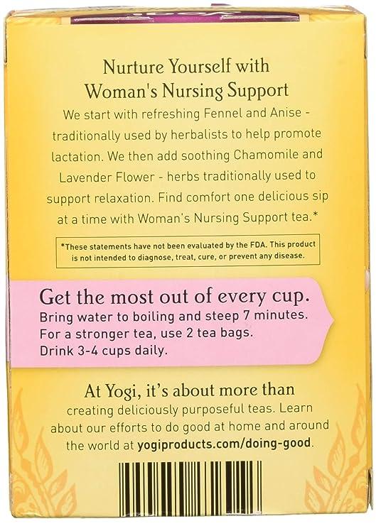 YOGI TEA - Womans Nursing Support Tea - 16 Tea Bags: Amazon.es: Salud y cuidado personal
