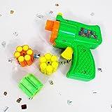Pistolet à confettis avec étincelles soirée disco canon à confettis avec munitions pistolet à confettis carnaval décoration