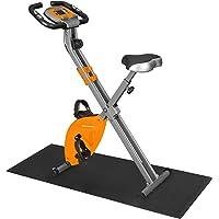SONGMICS Hometrainer, fitnessfiets, inklapbare fitnessfiets, 8 magnetische weerstandsinstellingen, met vloermat…