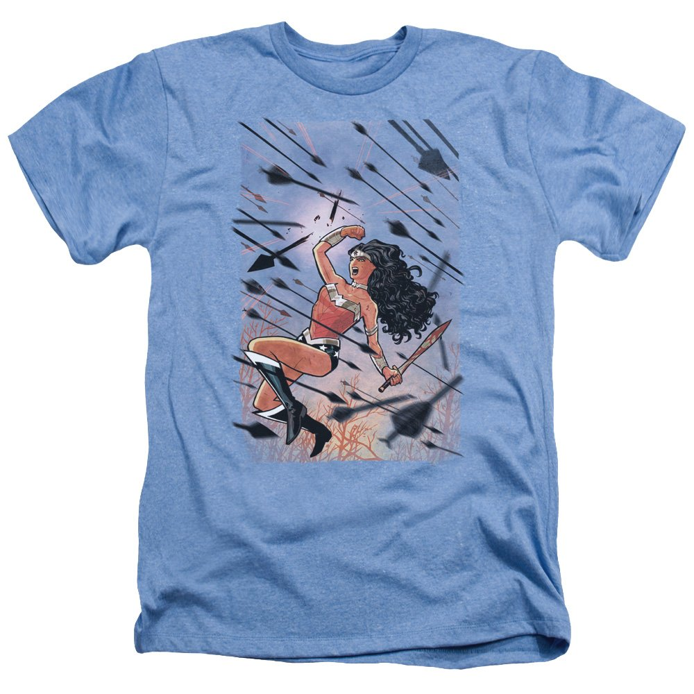 Trevco Mens JLA Justice League Starburst Adult T-Shirt