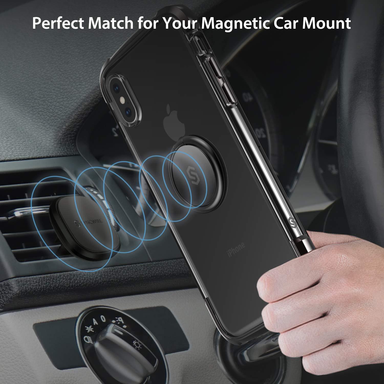 8 7 6s 6 Plus Soporte de Coche con rotaci/ón 360/º Anilla met/álica de Ajuste para m/óviles iPhone XS MAX//XR//X Samsung Galaxy S10 S9 S8 Syncwire Anillo Soporte m/óvil para el Dedo LG Moto Sony y m/ás