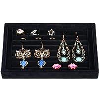 Deals on Valdler Velvet 7 Slots Ring Earrings Trays Showcase Display