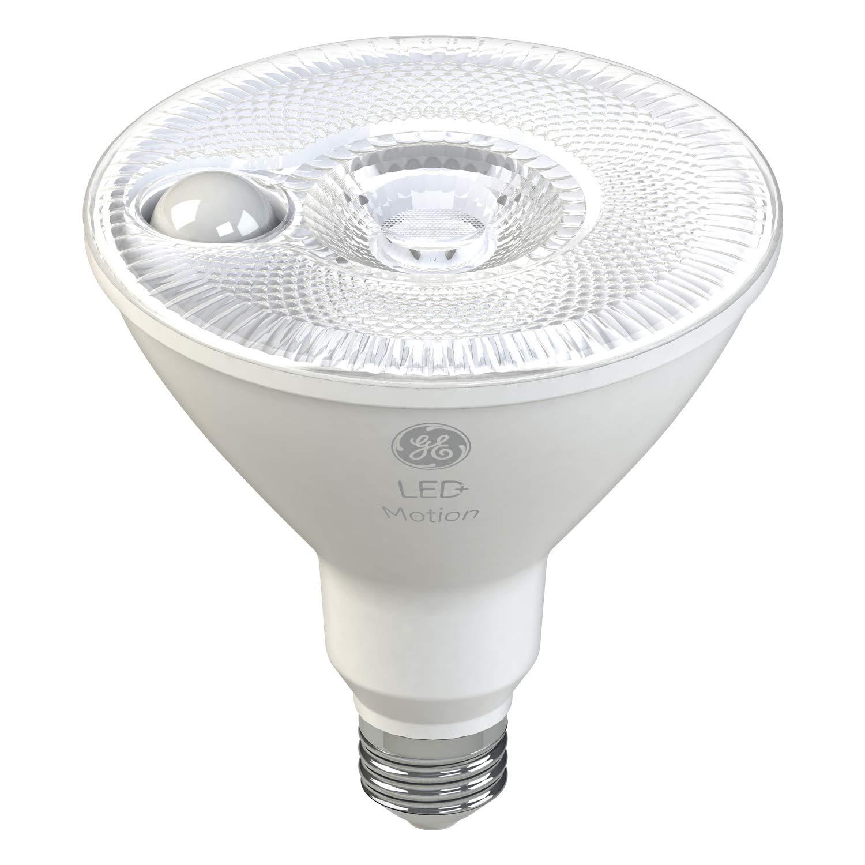 GE LED+ Motion LED Flood Light, Outdoor Light Bulb, Warm White, 90-Watt Replacement PAR38, Motion Sensor Light Outdoor Driveways, Walkways and Porches