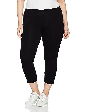 7ee737f547286 Ulla Popken Women s Plus Size Stretch   Support Cropped Leggings Black  12 14 574952 10