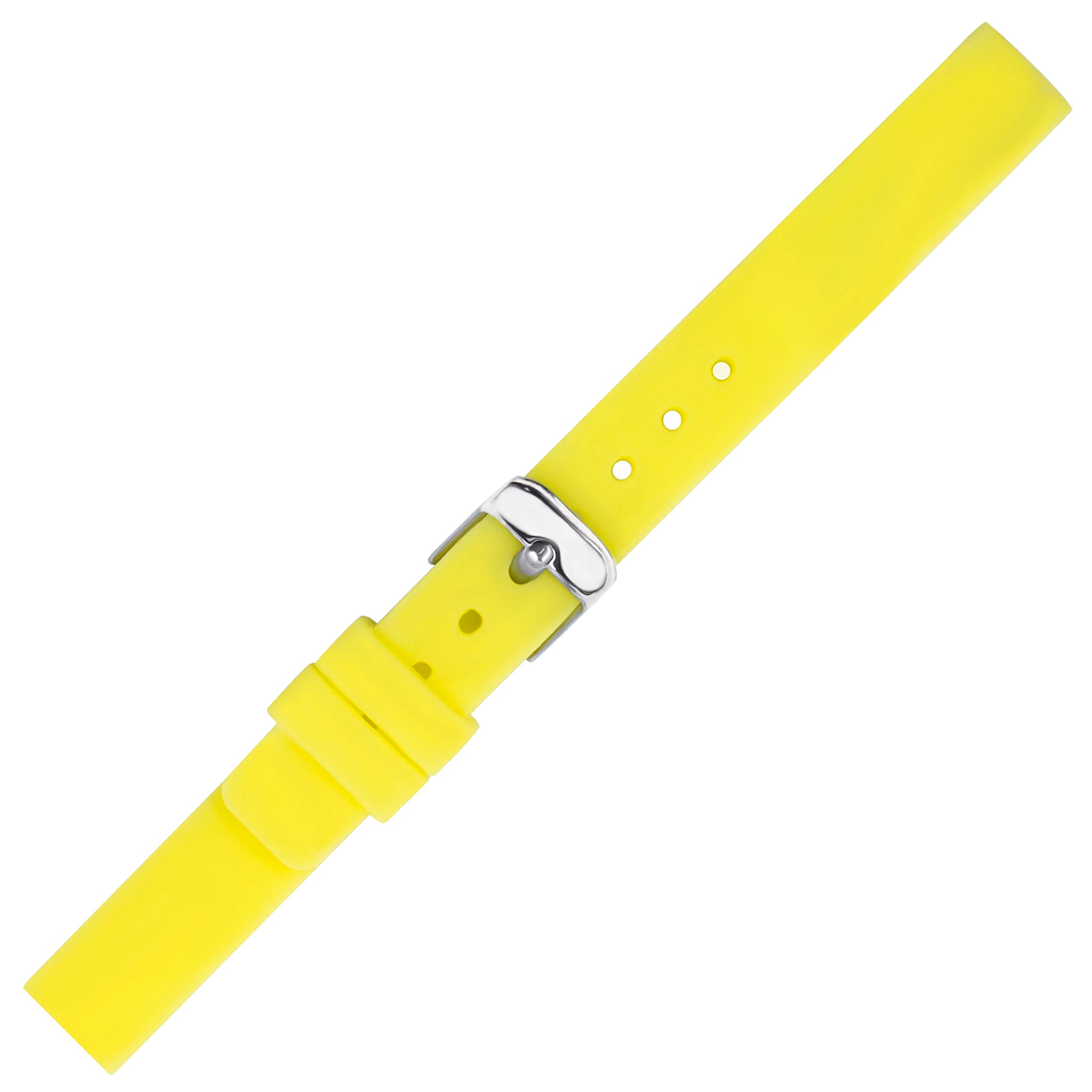 Kiiso Boy's and Gir's Glow in The Dark Siicone Sports Watch Bands 12mm,14mm,16mm (12mm, neon Yellow) by Kiiso