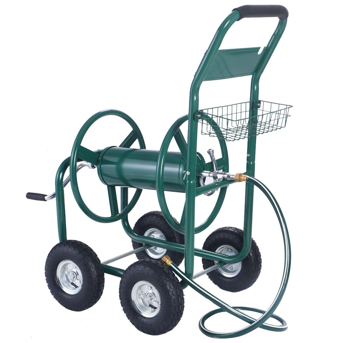 Rolling Wheel Garden Water Hose Reel Cart by FDInspiration