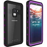 Galaxy S9 Waterproof Case, AMORNO Waterproof Shockproof Dustproof Dirtproof Full Body Case Built in Screen Protector with Touch ID for Samsung Galaxy S9 (Purple)