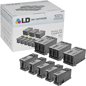 LD Compatible Ink Cartridge Replacement for Dell T091N & T092N Series 22 High Yield (5 Black, 3 Color, 8-Pack)