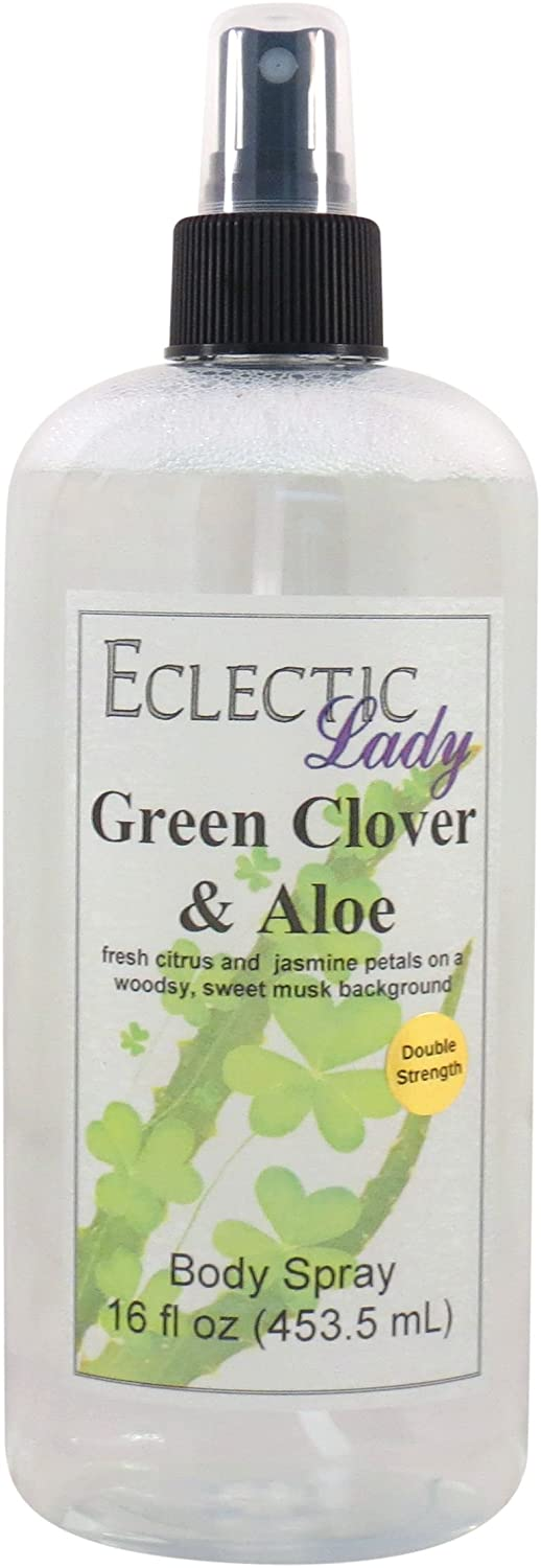 Green Clover And Aloe Body Spray (Double Strength), 2 ounces Eclectic Lady
