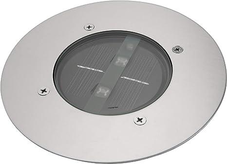 Ranex RA-5000197 Baliza Solar LED, foco redondo, Silver: Amazon.es: Hogar