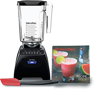 product image for Blendtec C575A2301A-A1AP1D1 4 Pre-programmed Cycles-5-Speeds Classic 575 Blender-WildSide+ Jar (90 oz), Recipe Book, and Spoonula Spatula BUNDLE-Professional-Grade Power-Self-Cleaning, Black