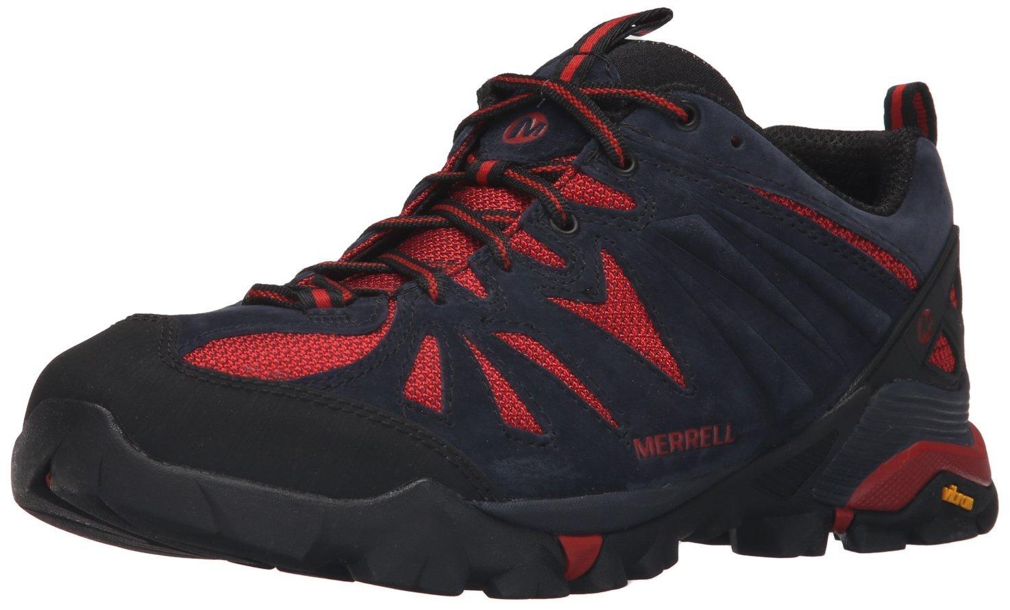 Merrell Men's Capra Hiking Shoe, Navy, 11.5 M US
