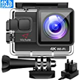 Victure 4K Action Camera 20MP UHD WIFI Camcorder 96ft Underwater Waterproof Cam Dual-battery Charger/Time-lapse/Anti-shaking/4x Zoom/Some accessories/170 Degree Wide View Angle 2 Inch LCD Screen