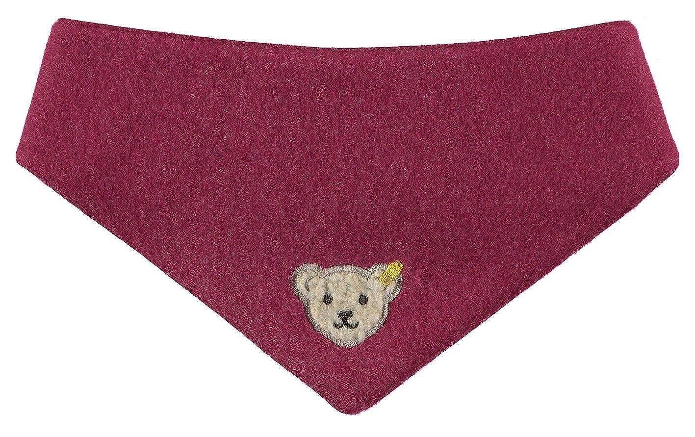 Steiff Baby-Mädchen Halstuch Dreieckstuch Fleece Rot (Anemone|Red 2144) One Size 6843810