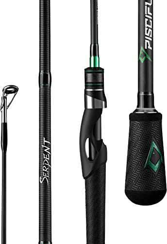 Piscifun Serpent Spinning Rod – Fuji Line Guides, IM7 Carbon Fishing Rod Blanks One Piece Two Pieces Durable Sensitive Spinning Fishing Rods
