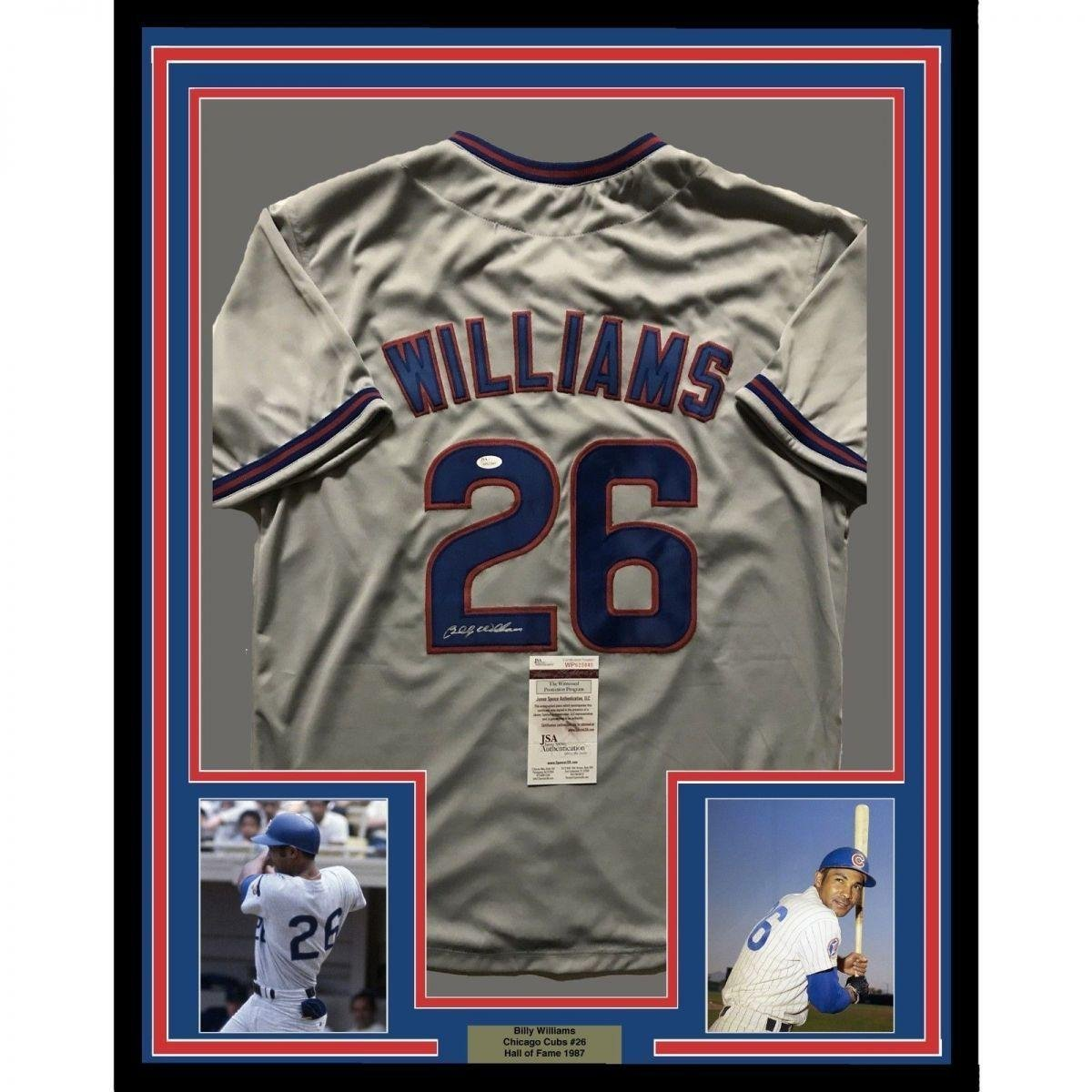 52c42e81a45 Signed Billy Williams Jersey - FRAMED 33x42 Grey COA - JSA Certified - Autographed  MLB Jerseys at Amazon s Sports Collectibles Store