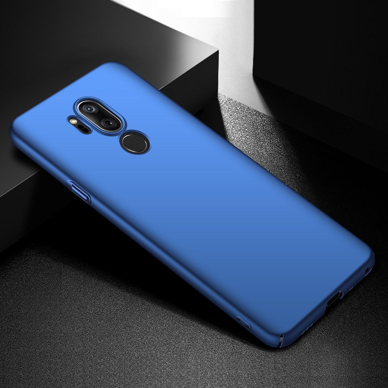 AOBOK Coque LG G7 ThinQ Bleu fonc/é /Él/égant Extra Slim Mince Case Anti-Rayures Protection Rigide Cover Simple Ultra Fine Matte Housse /Étui pour LG G7 ThinQ