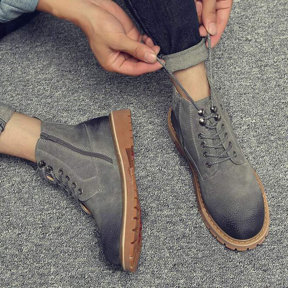 JIAMIJ Herren Lederstiefel Oxford Schuhe Retro Formelle Arbeit Arbeit Arbeit Rutschfeste Verschleißfeste Casual Classic Schuhe,grau-Plusvelvet-40 53d10c