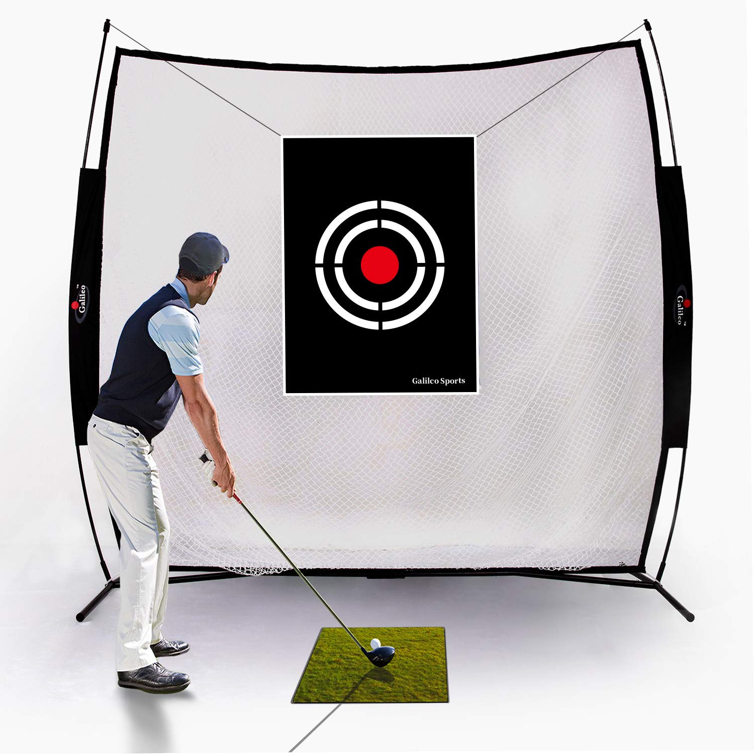Galileo Golf Practice Net Golf Hitting Nets Driving Range Indoor&Outdoor Golf Training Aids with Target&Carry Bag(7x7ft) by GALILEO
