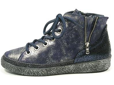 7-01-03A Schuhe Damen Halbschuhe Sneaker Schnürschuhe, Schuhgröße:42;Farbe:Blau Softwaves