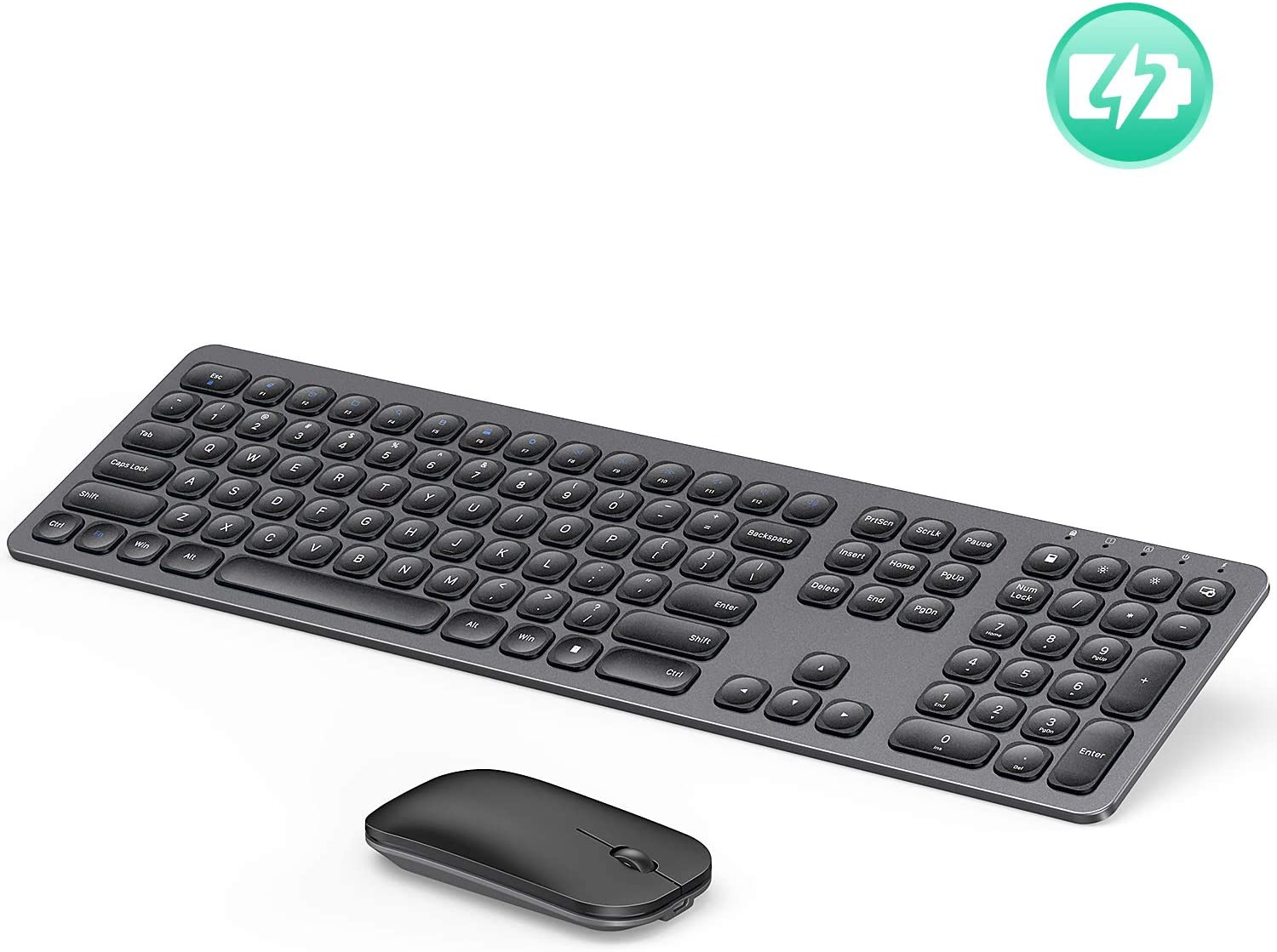 Ultra Slim Wireless Keyboard and Mouse Combo Long Battery Life Yellow Compatible with Windows and Chrome OS